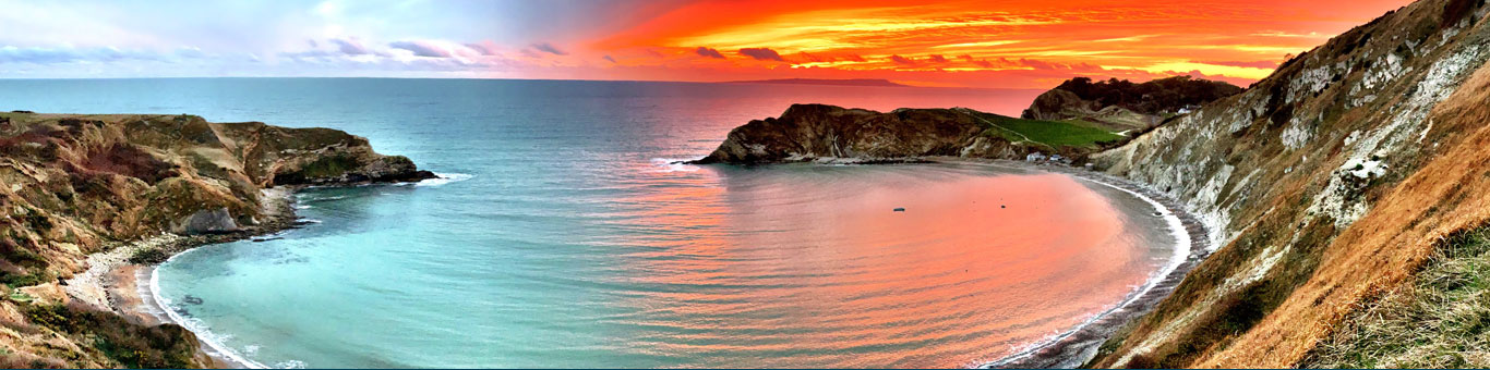 Lulworth cove - sunset 3