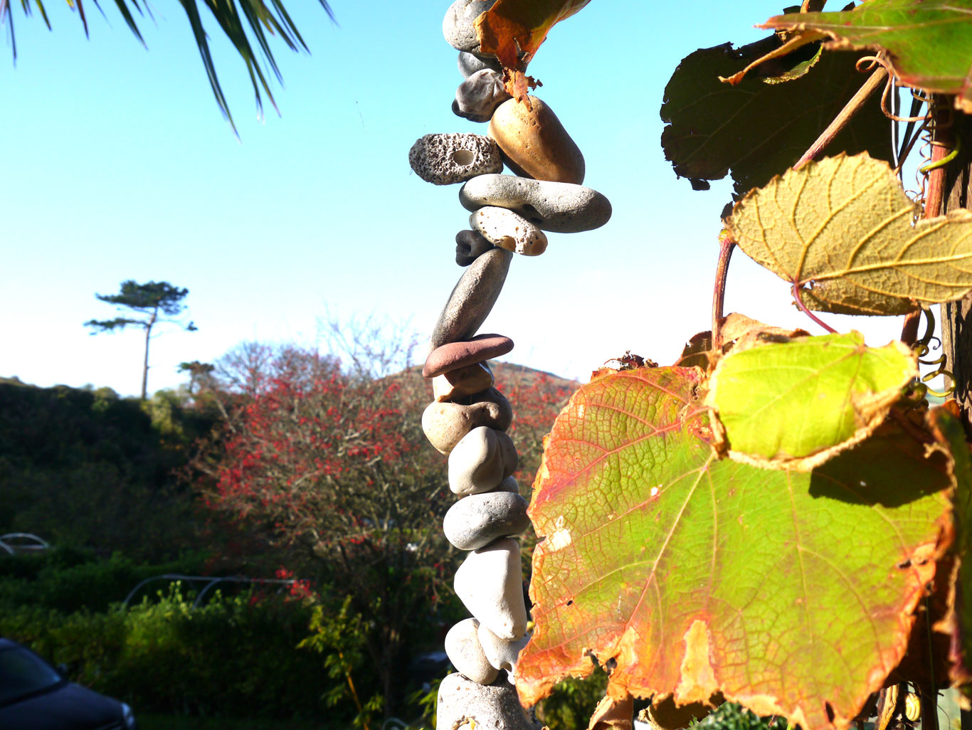 Hanging stones