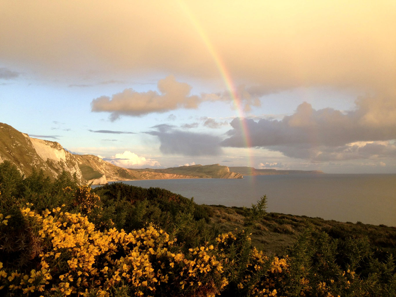 Rainbow above Mupe Bay